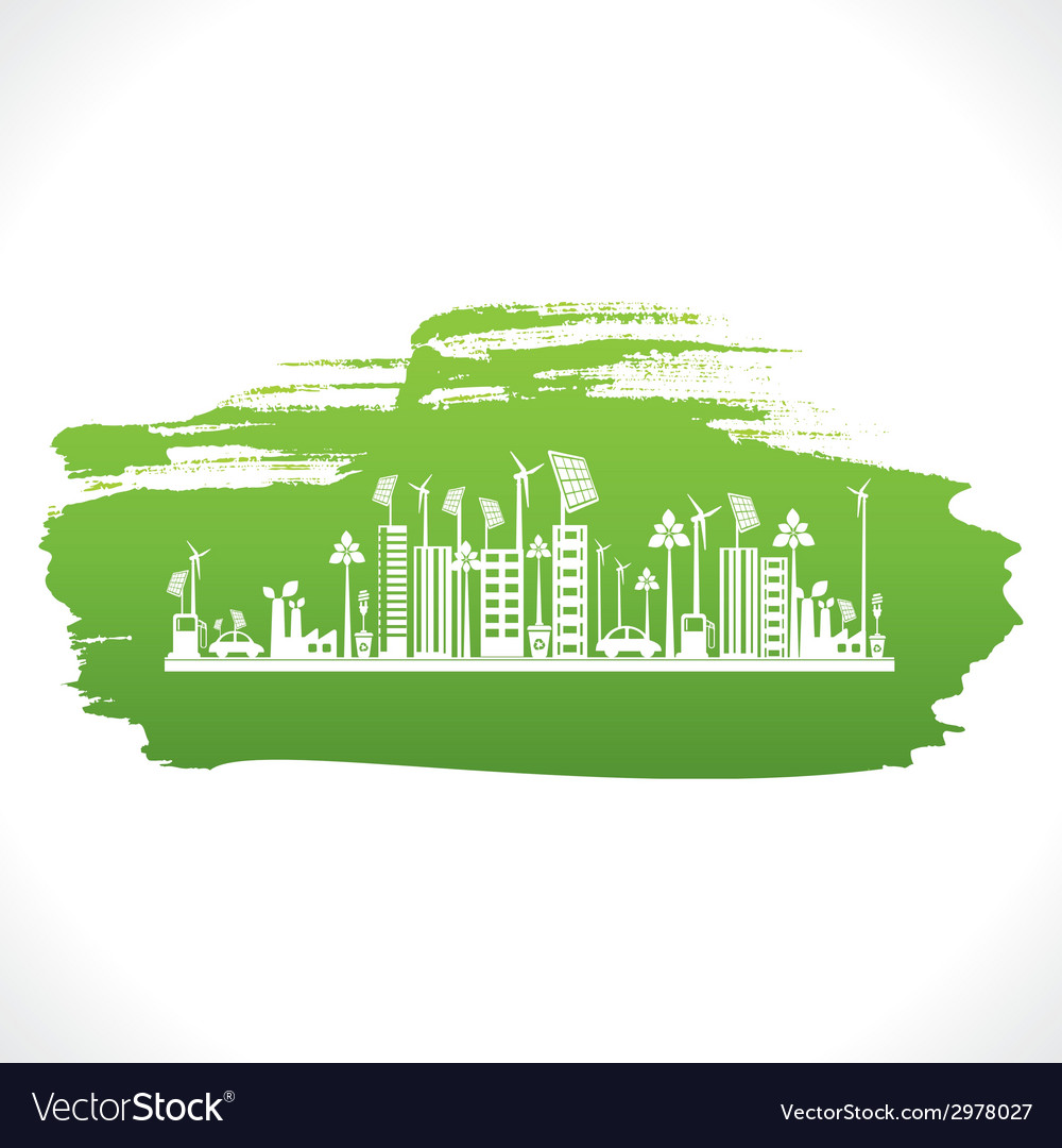 Artistic design of go green or save earth design vector | Price: 1 Credit (USD $1)