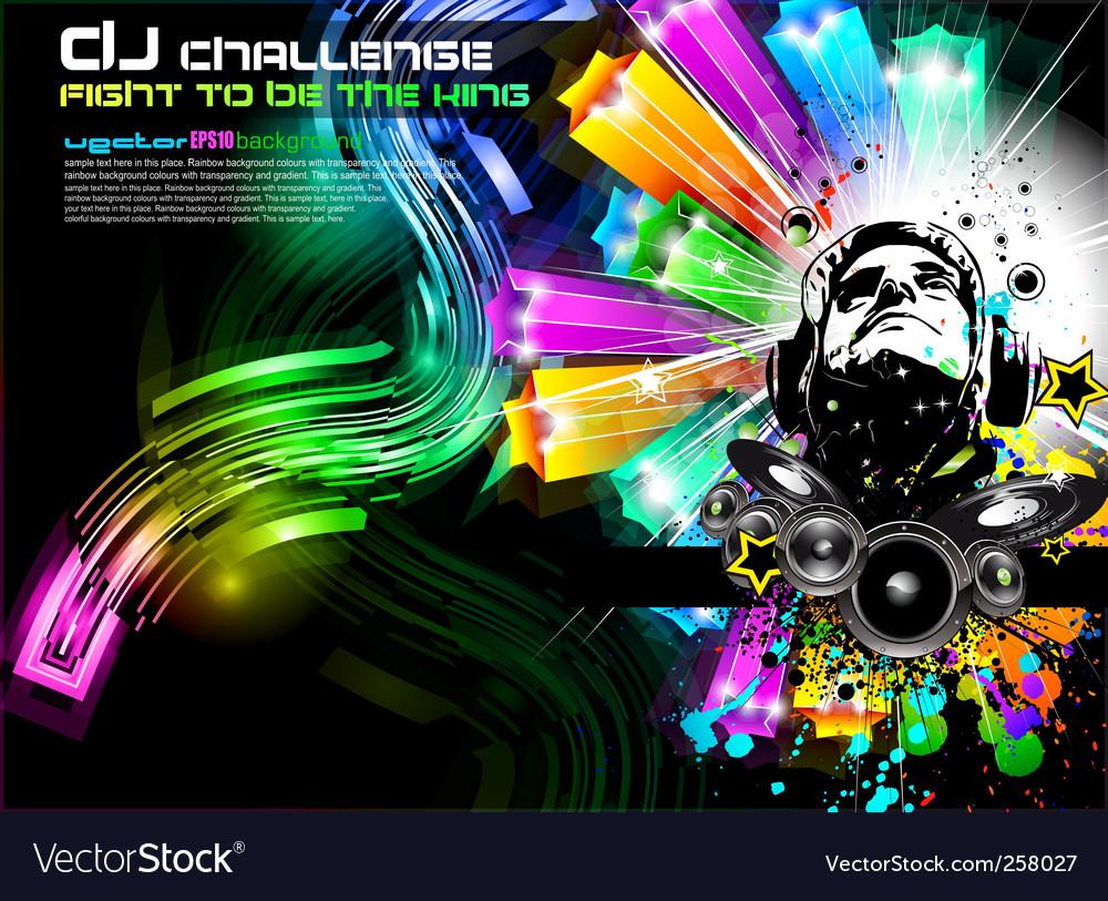 Dj music flyer vector | Price: 3 Credit (USD $3)