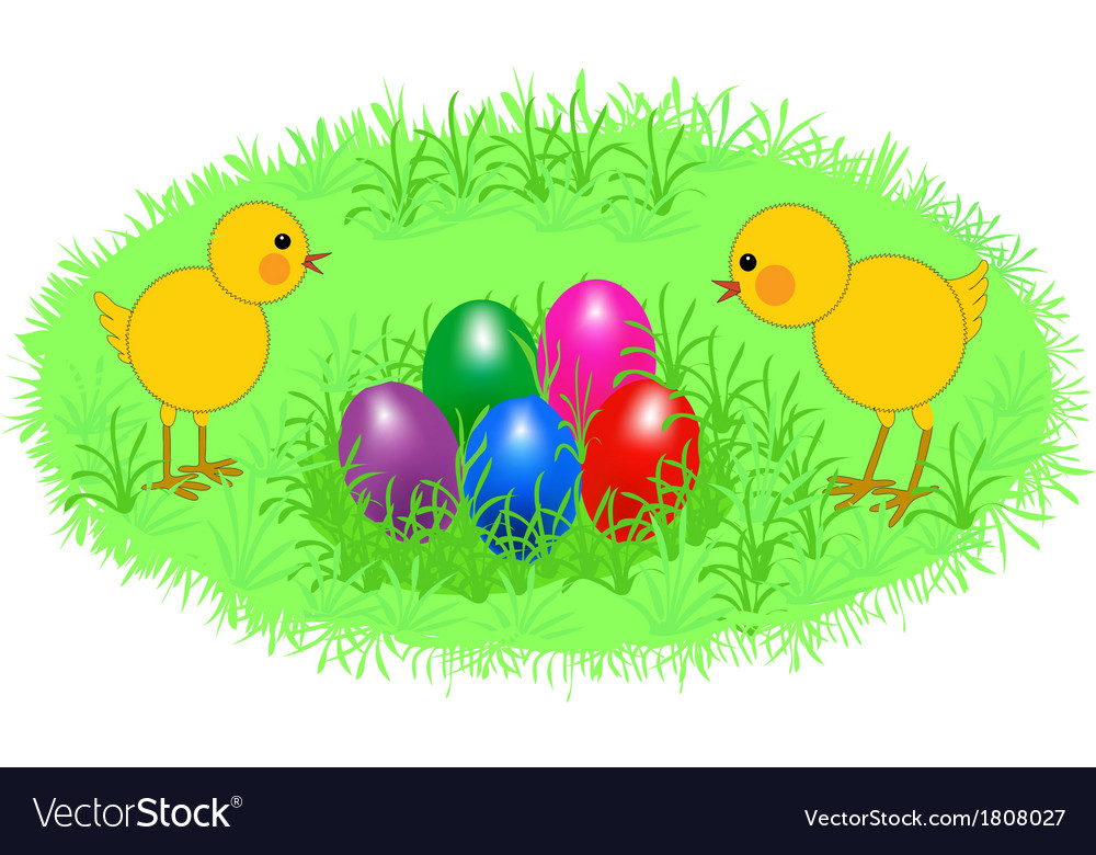 Easter chickens vector | Price: 1 Credit (USD $1)