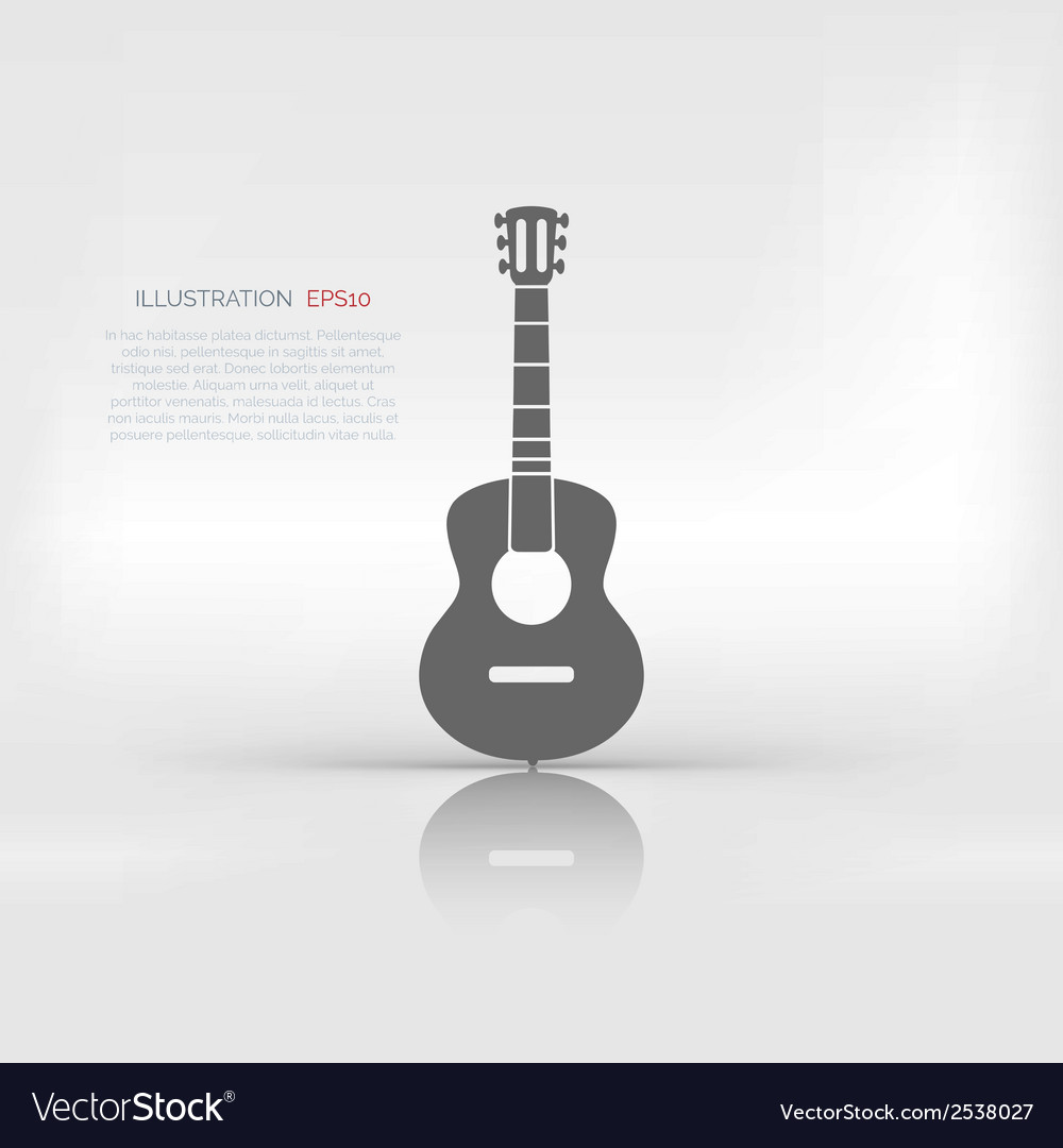 Guitar icon music background vector | Price: 1 Credit (USD $1)