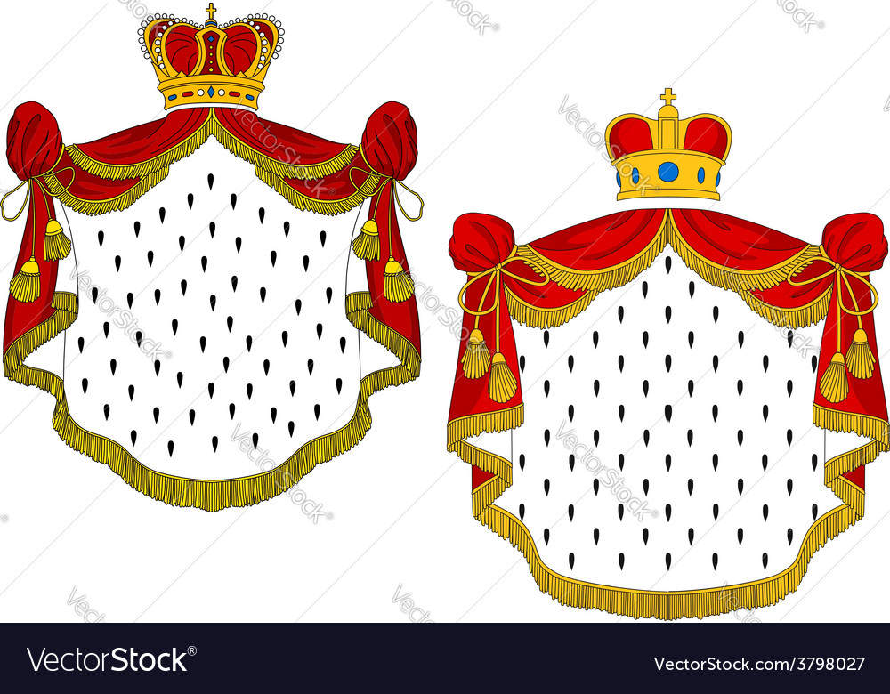 Heraldic royal mantles vector | Price: 1 Credit (USD $1)