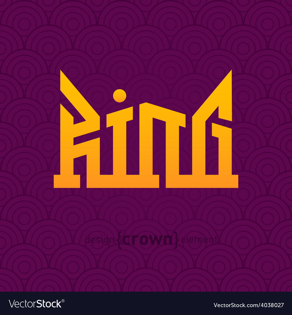 King crown design element vector | Price: 1 Credit (USD $1)