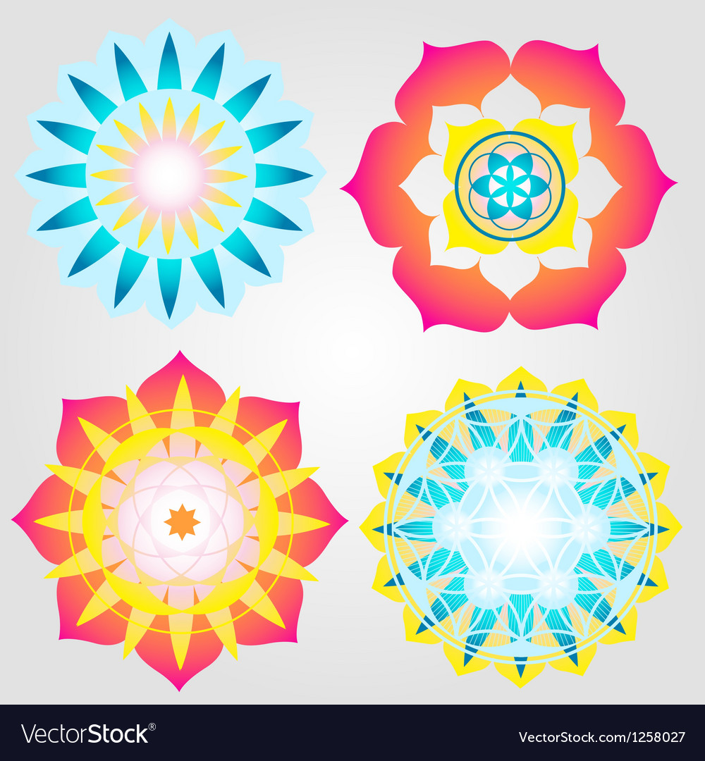 Mini mandalas icons vector | Price: 1 Credit (USD $1)