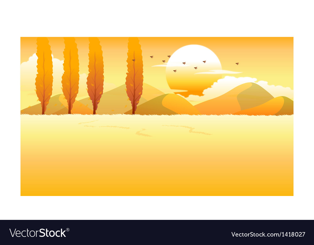 Mountain range field vector | Price: 1 Credit (USD $1)