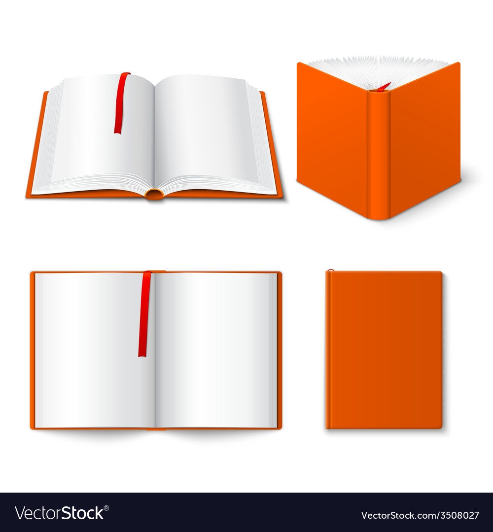 Open book templates set vector | Price: 1 Credit (USD $1)