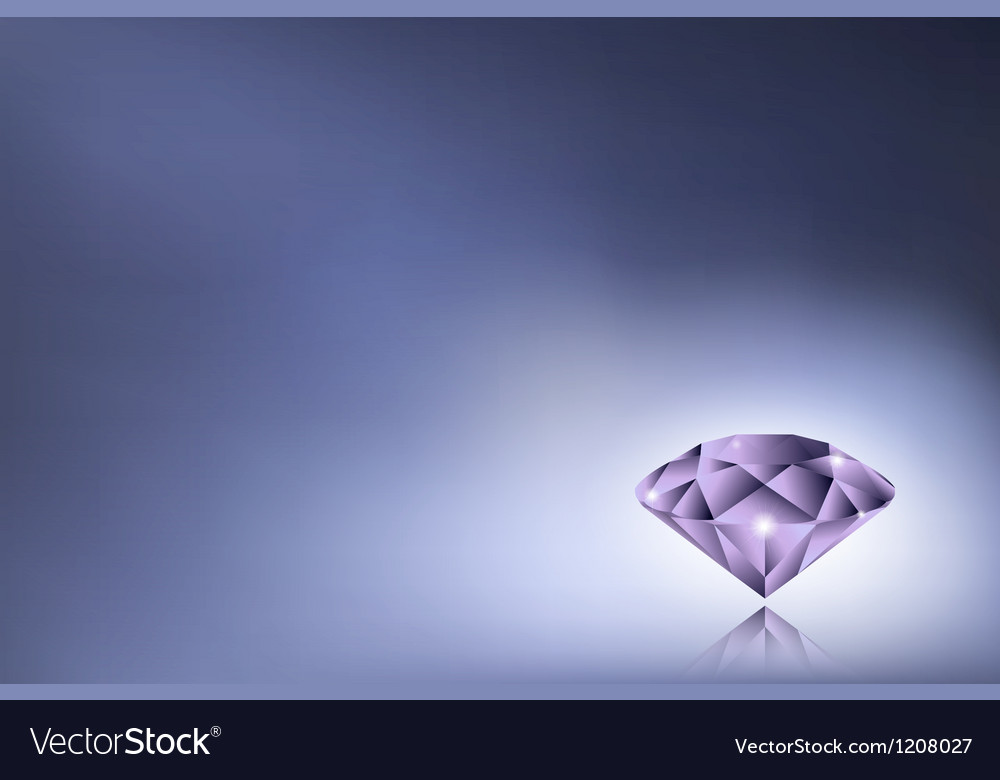 Purple diamond vector | Price: 1 Credit (USD $1)