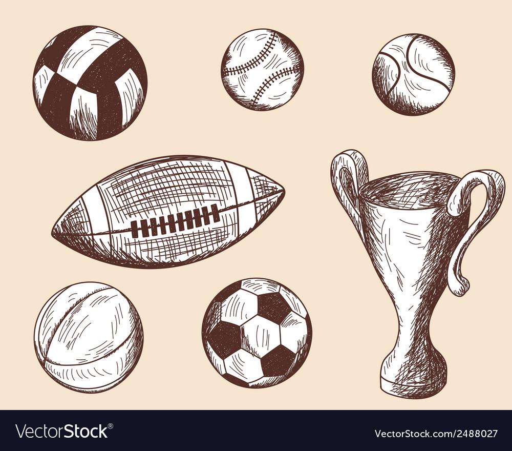 School props balls vector | Price: 1 Credit (USD $1)