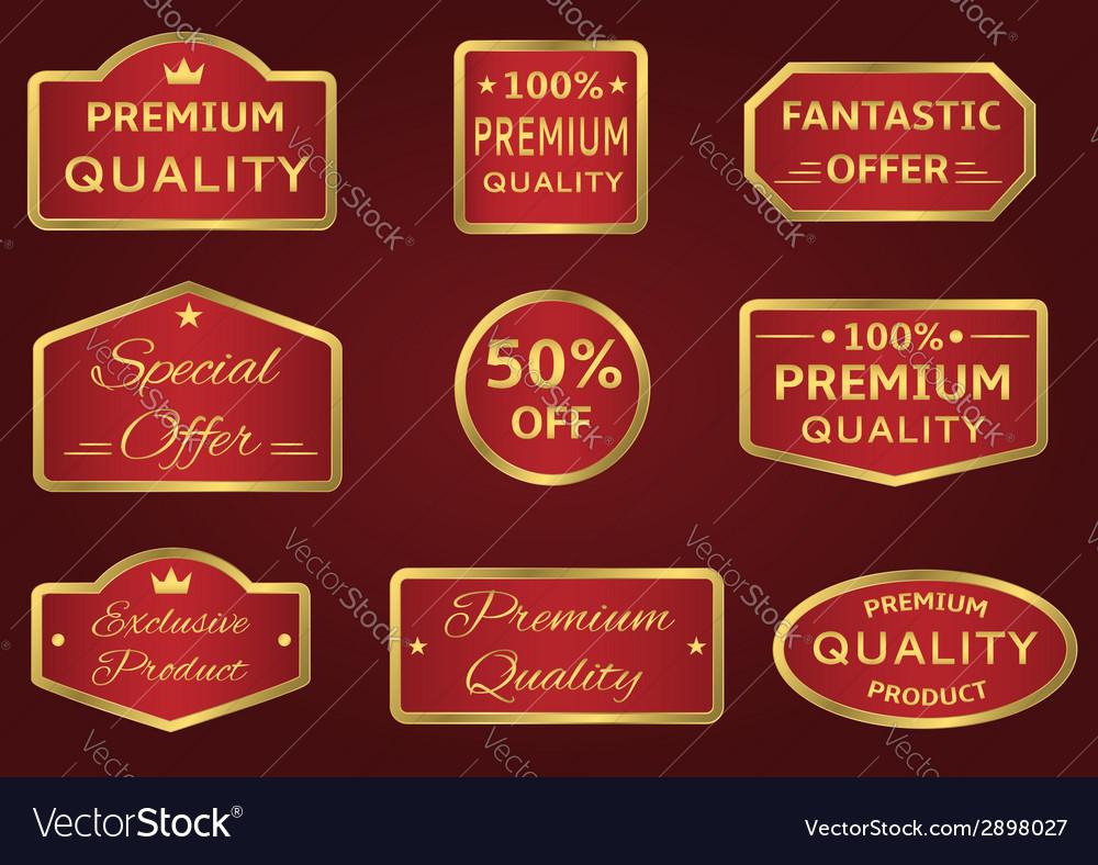Seals-stickers set vector | Price: 1 Credit (USD $1)