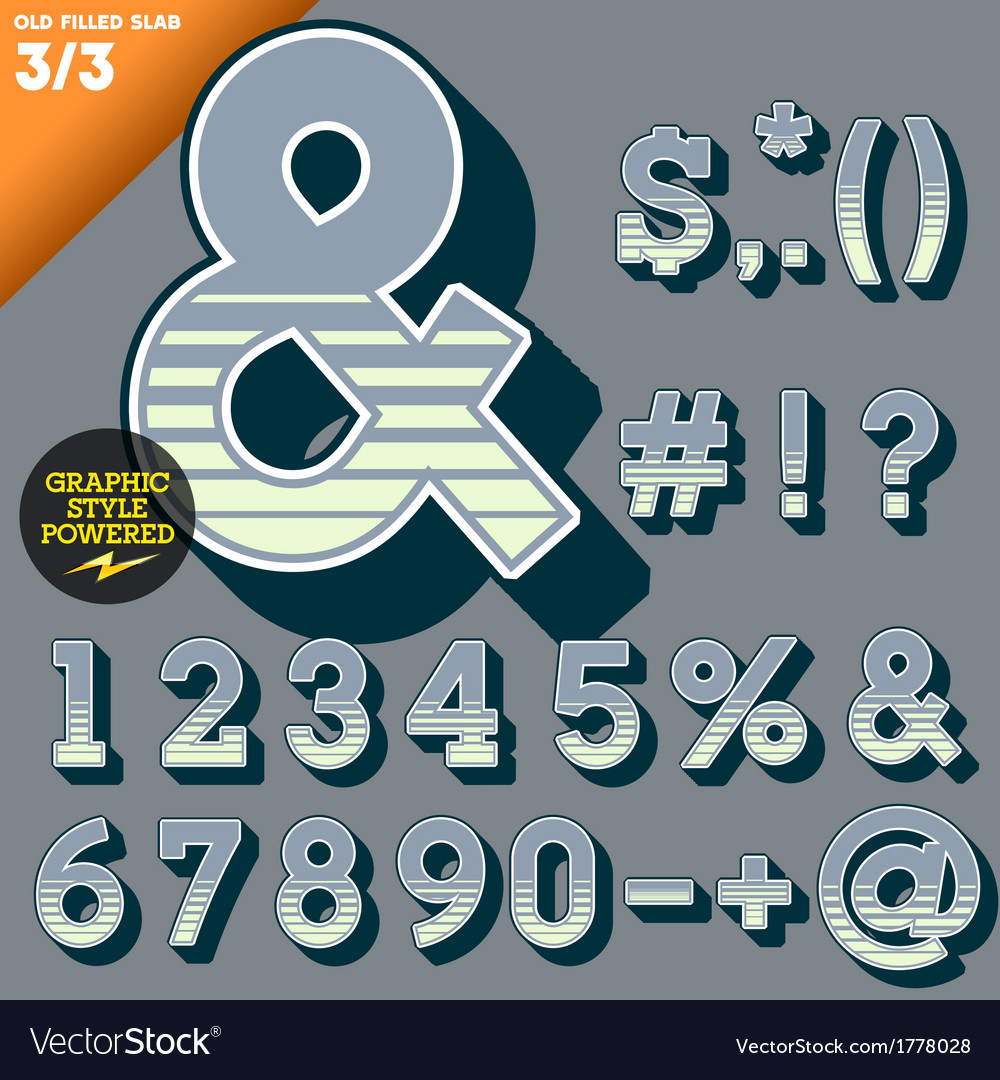 An old fashioned alphabet vector   Price: 1 Credit (USD $1)