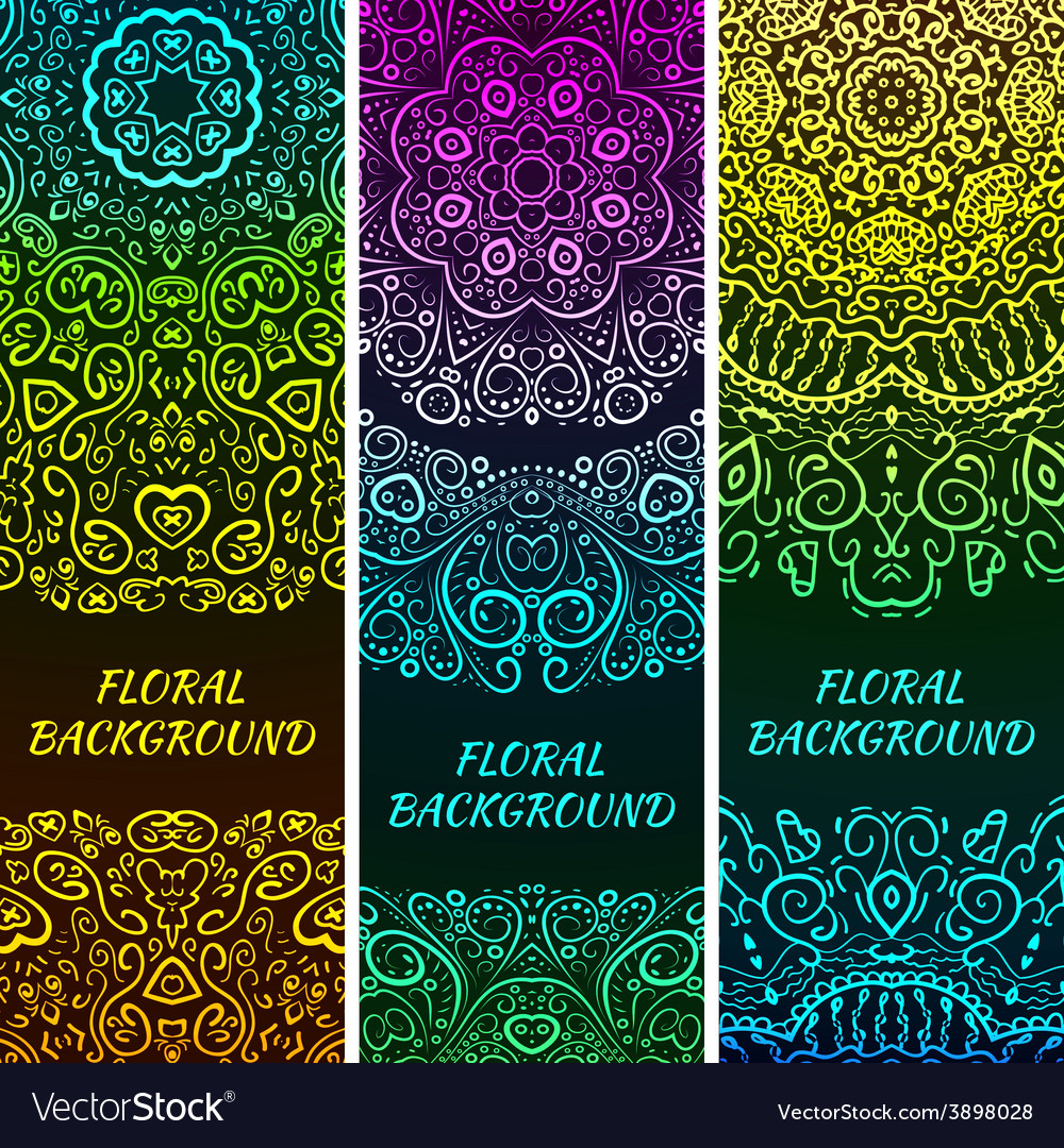 Bright asian decorative headers vector | Price: 1 Credit (USD $1)