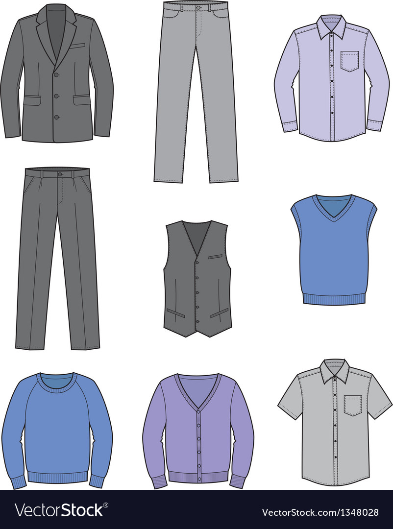 Business clothes vector | Price: 1 Credit (USD $1)