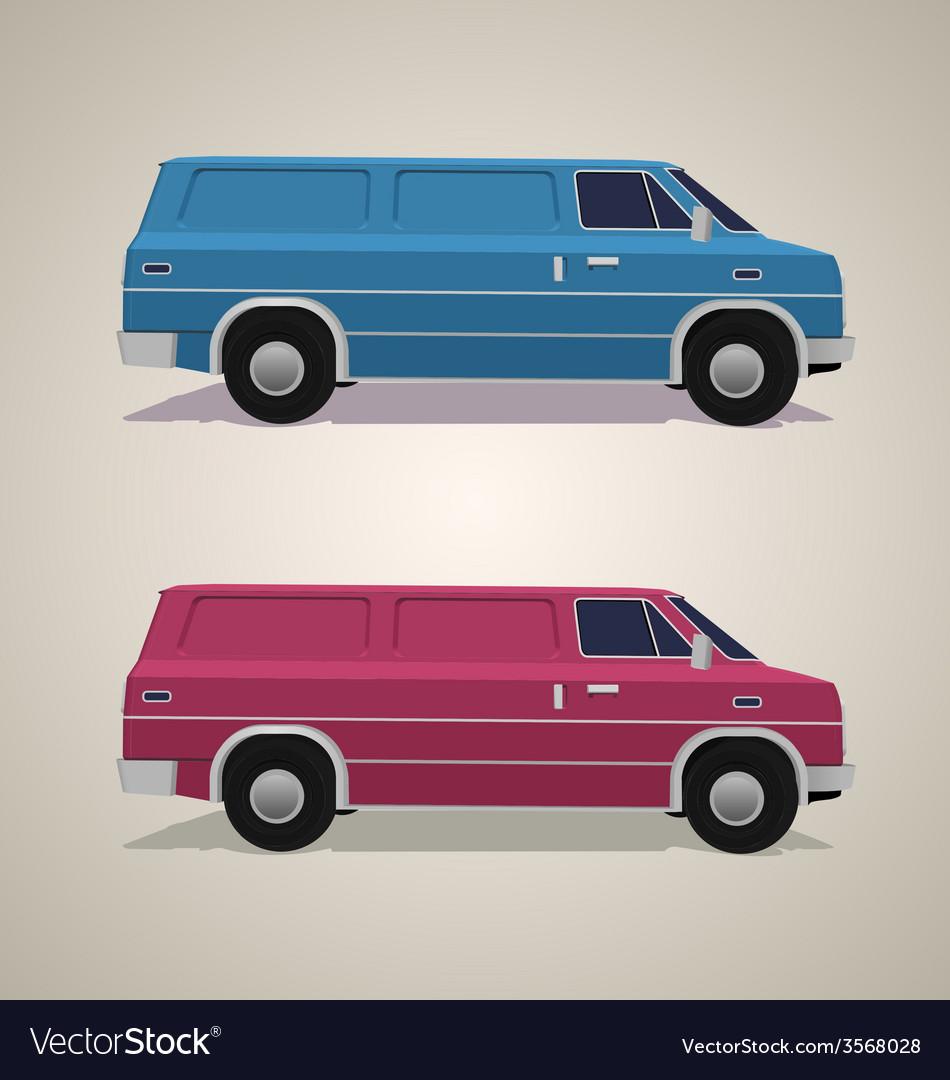 Delivery van vector | Price: 1 Credit (USD $1)