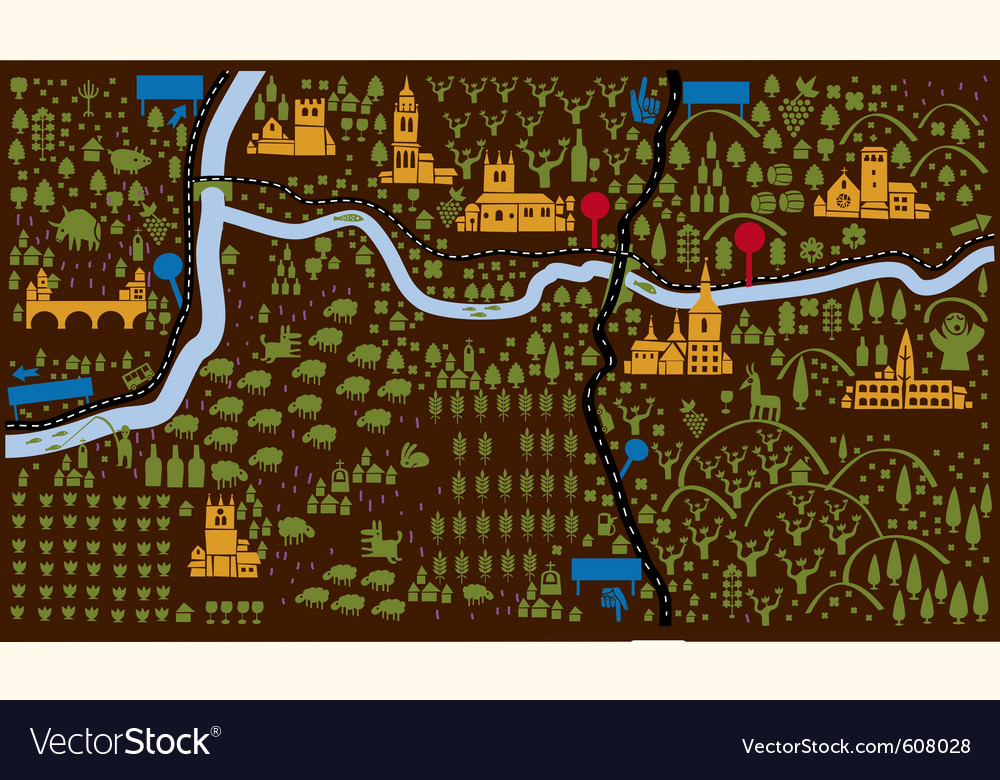 Iconic castle map vector   Price: 1 Credit (USD $1)