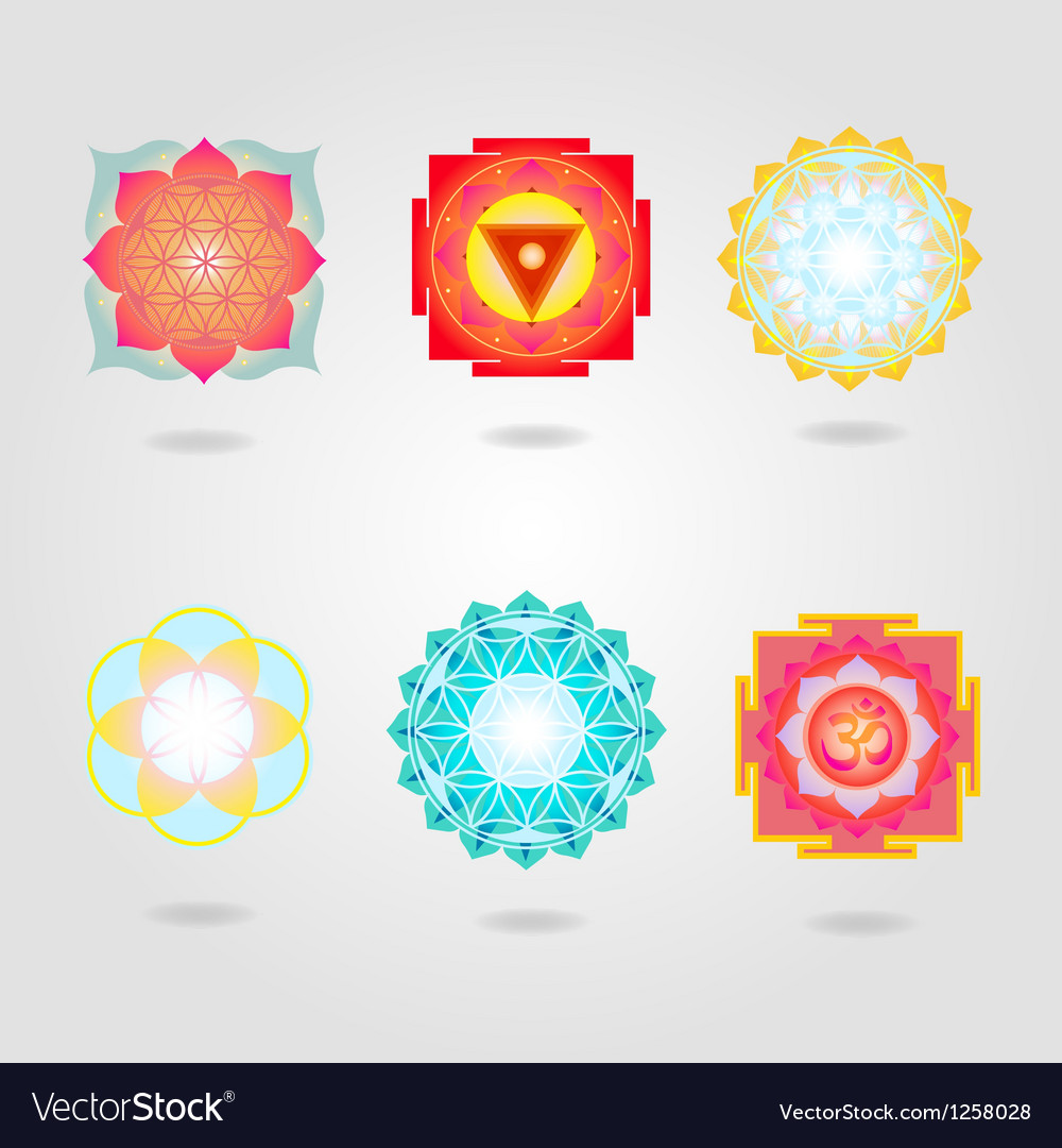 Mini mandalas and yantra set vector | Price: 1 Credit (USD $1)