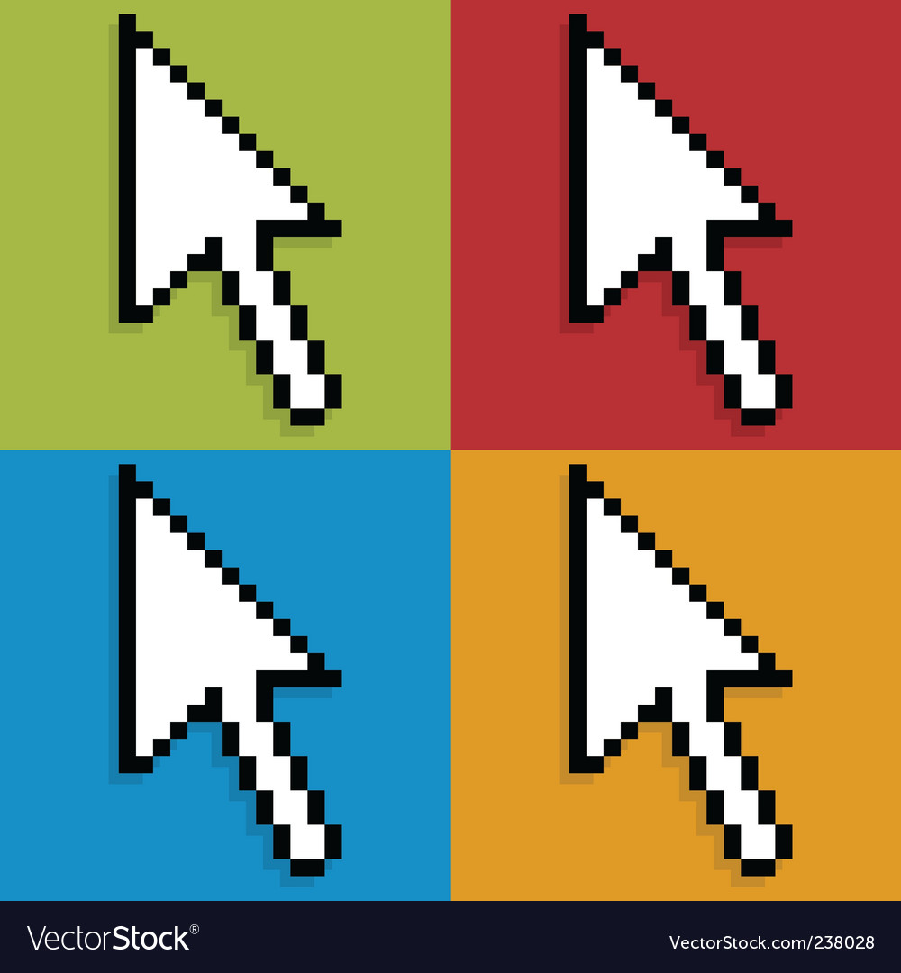 Pop mouse pointer vector | Price: 1 Credit (USD $1)