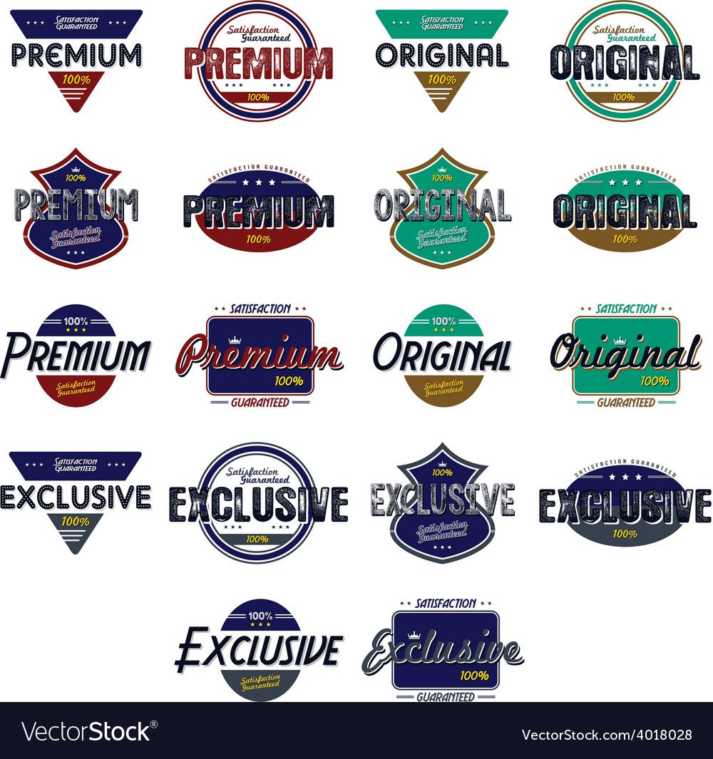 Quality badge vector | Price: 1 Credit (USD $1)