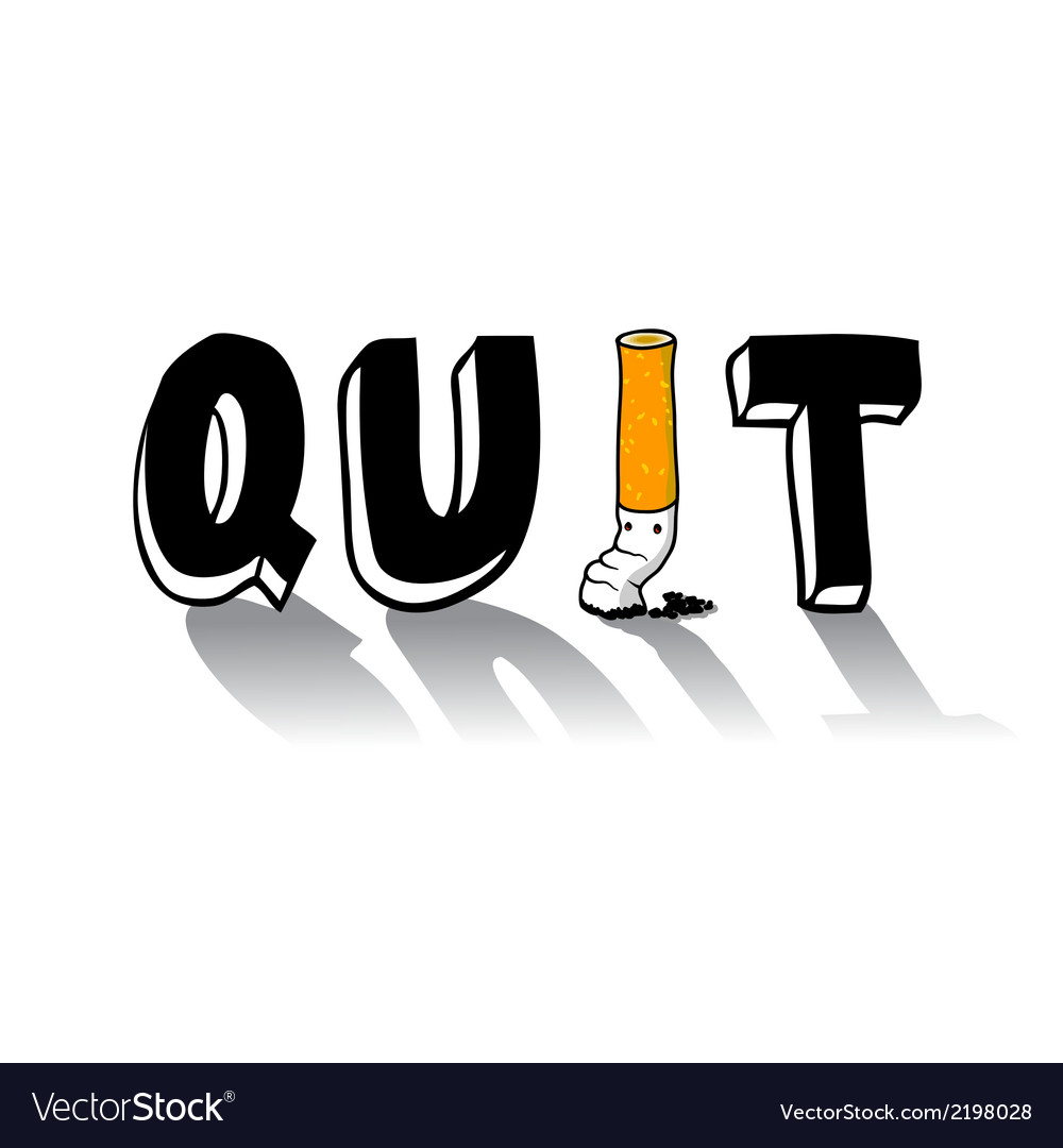 Quit smoking vector | Price: 1 Credit (USD $1)