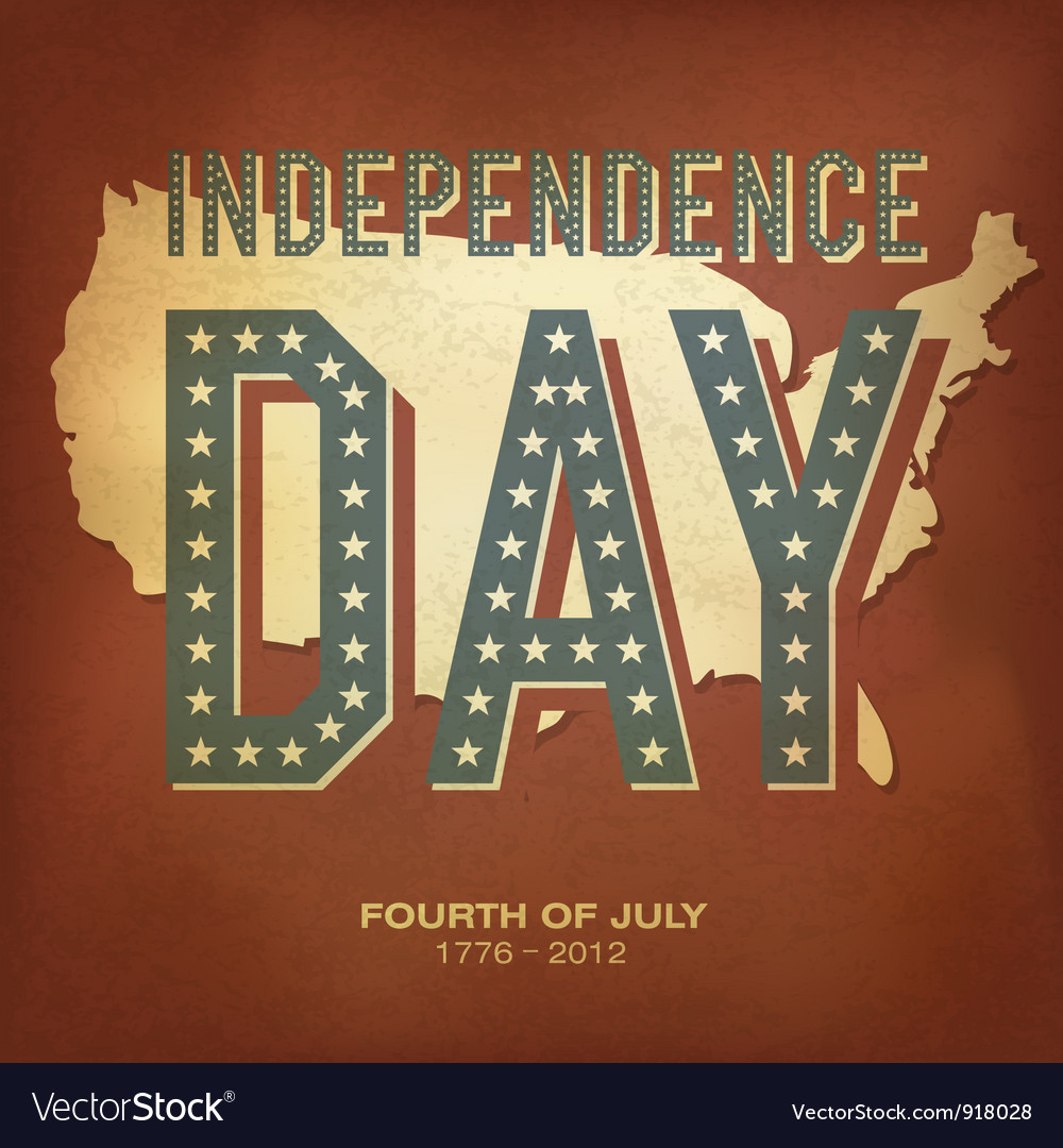 Retro poster independence day vector | Price: 1 Credit (USD $1)