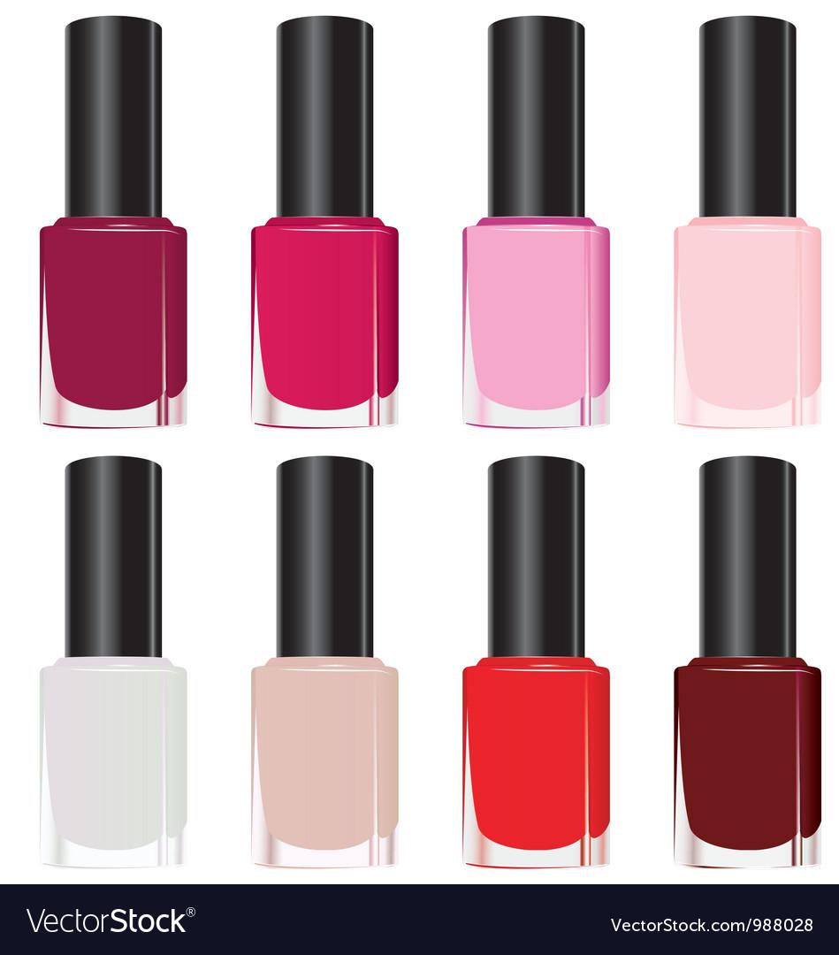 Set nail polish vector