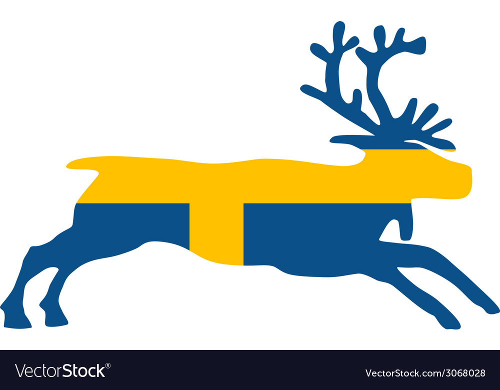 Swedish reindeer vector | Price: 1 Credit (USD $1)