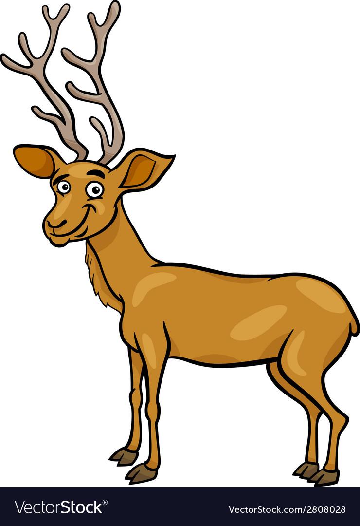 Wapiti deer cartoon vector | Price: 1 Credit (USD $1)