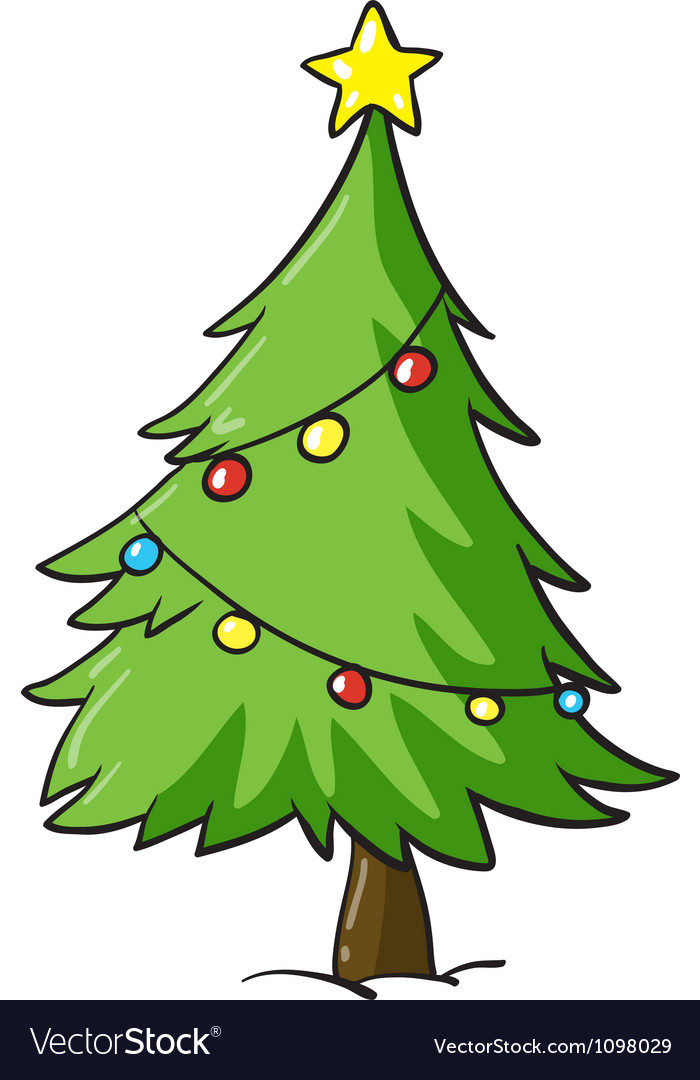 A christmas tree vector | Price: 1 Credit (USD $1)