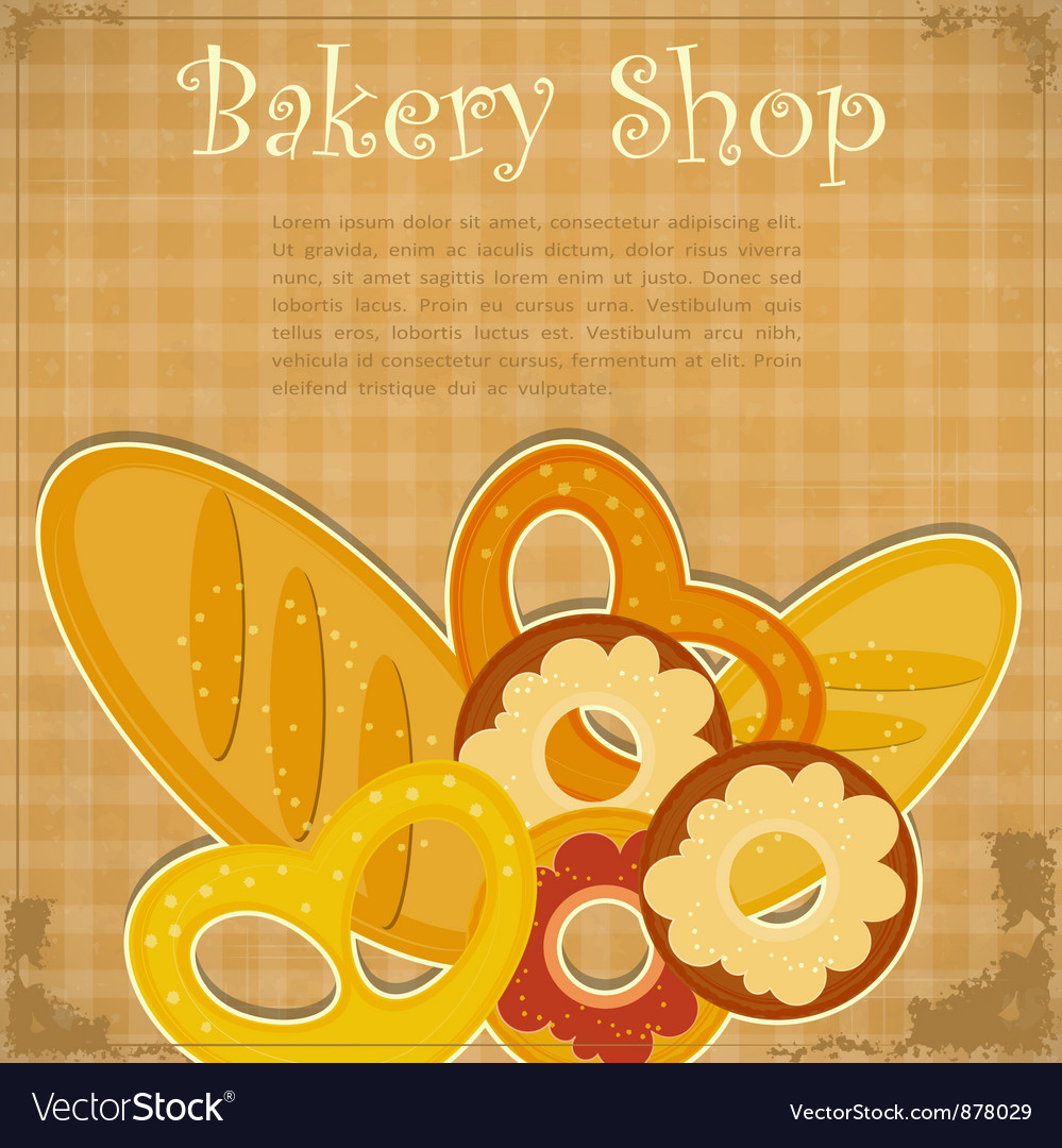 Bakery cover menu vector | Price: 1 Credit (USD $1)