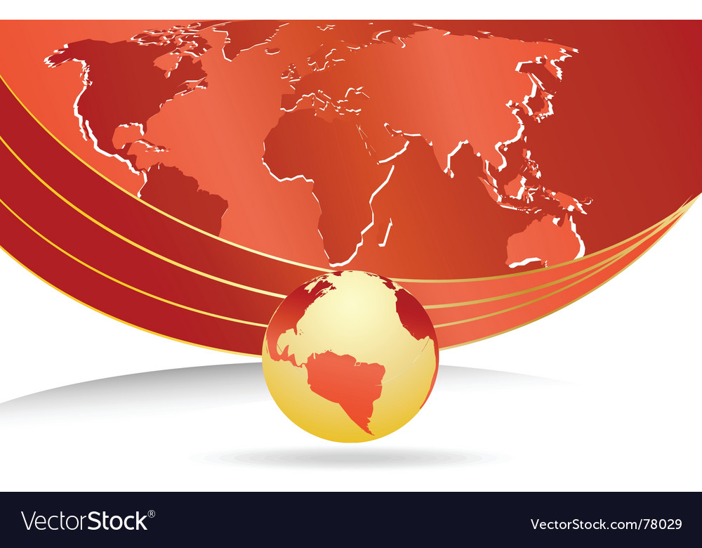 Business template with world map vector   Price: 1 Credit (USD $1)