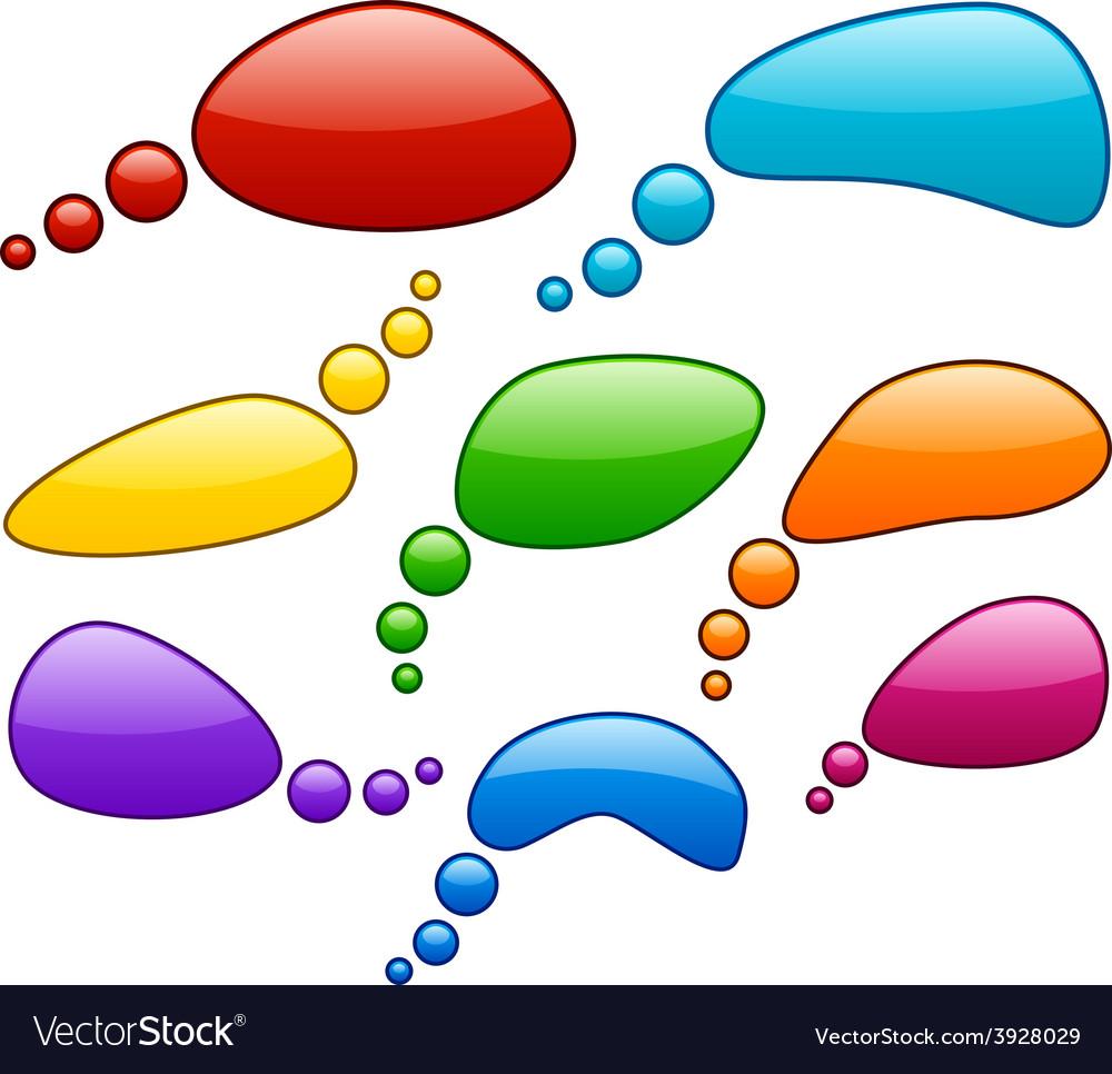 Color speech bubbles vector | Price: 1 Credit (USD $1)