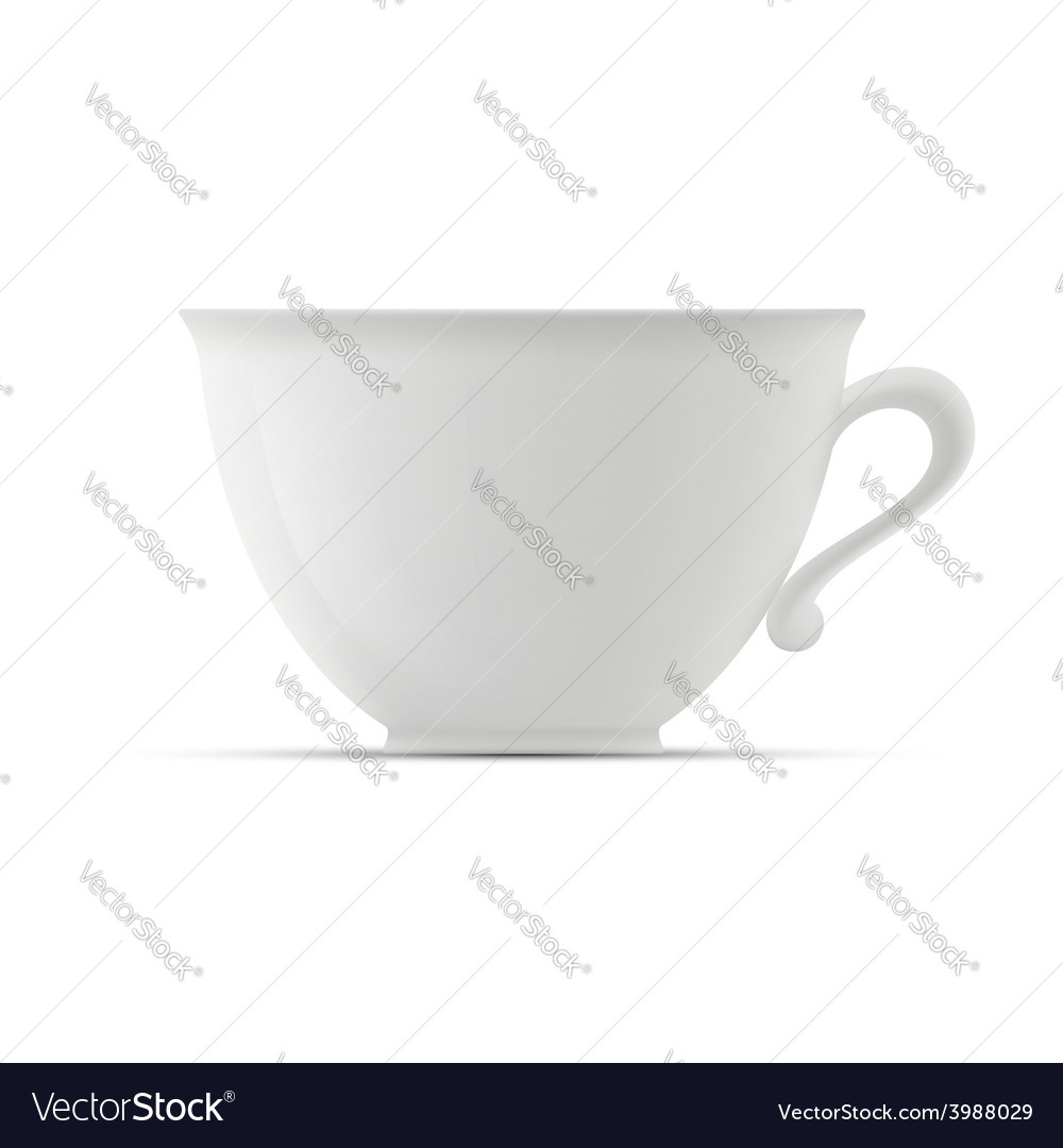 Cup on white background vector | Price: 1 Credit (USD $1)