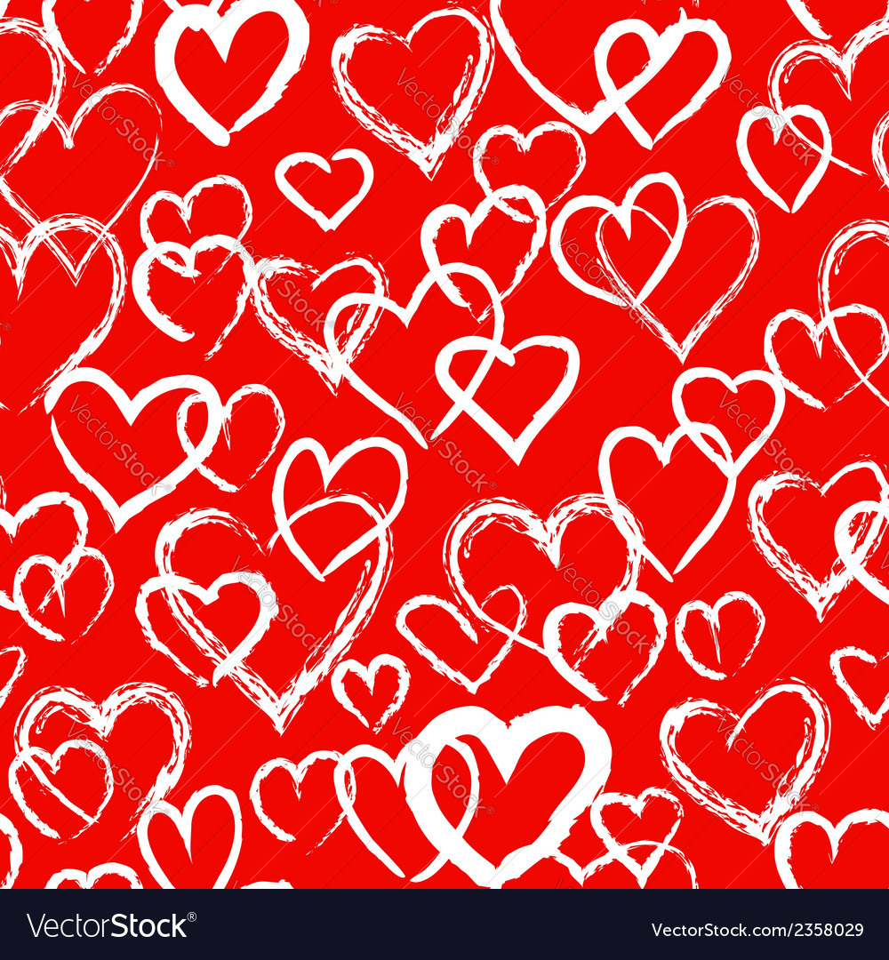 Hearts seamless pattern vector   Price: 1 Credit (USD $1)