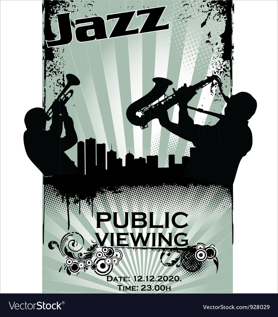 Jazz musician silhouettes vector | Price: 1 Credit (USD $1)