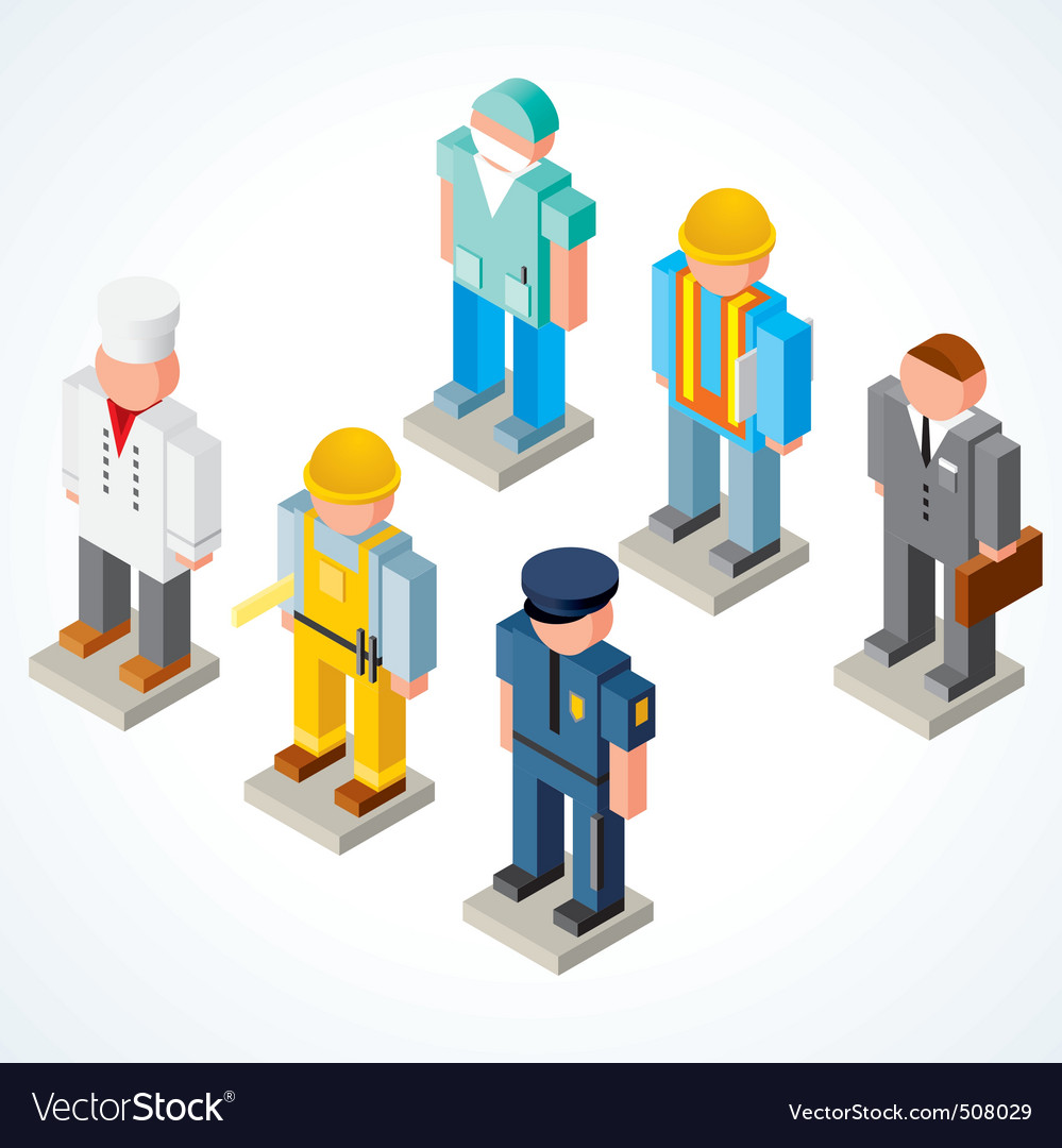 Occupation people vector