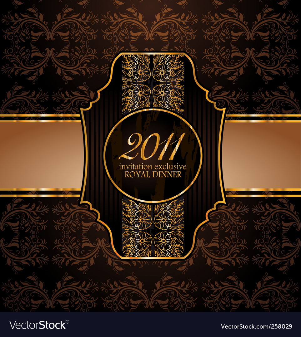 Royal invitation vector | Price: 3 Credit (USD $3)