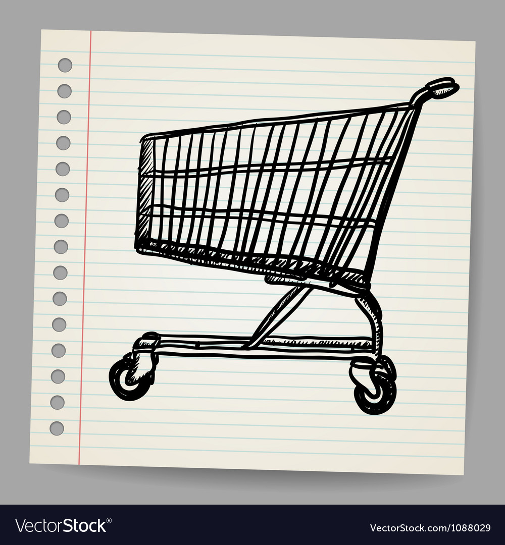 Scribble shopping cart vector | Price: 1 Credit (USD $1)