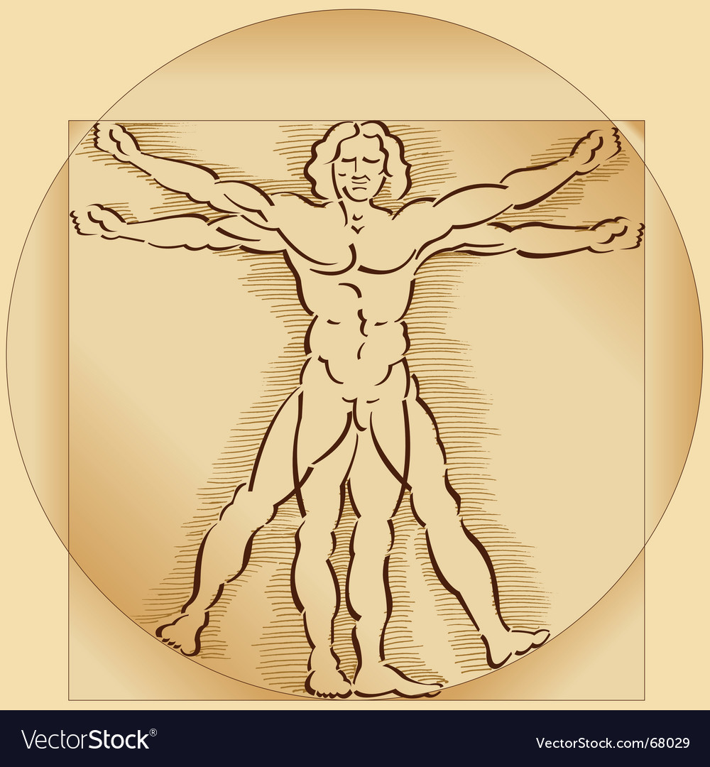 Vitruvian man vector | Price: 1 Credit (USD $1)