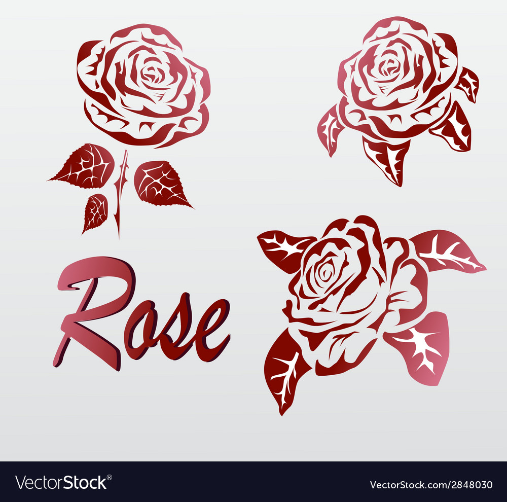 Rose icons tattoo vector | Price: 1 Credit (USD $1)