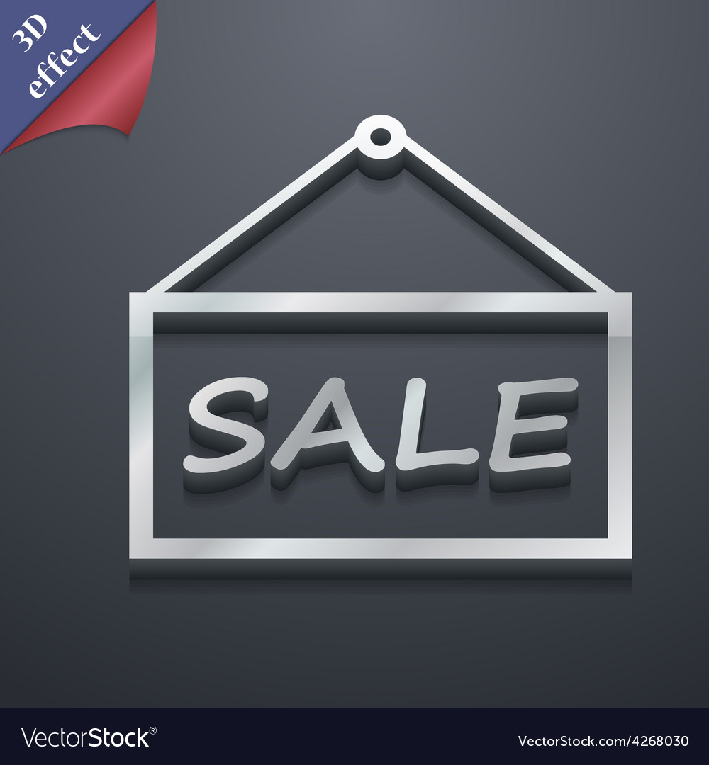 Sale tag icon symbol 3d style trendy modern design vector | Price: 1 Credit (USD $1)