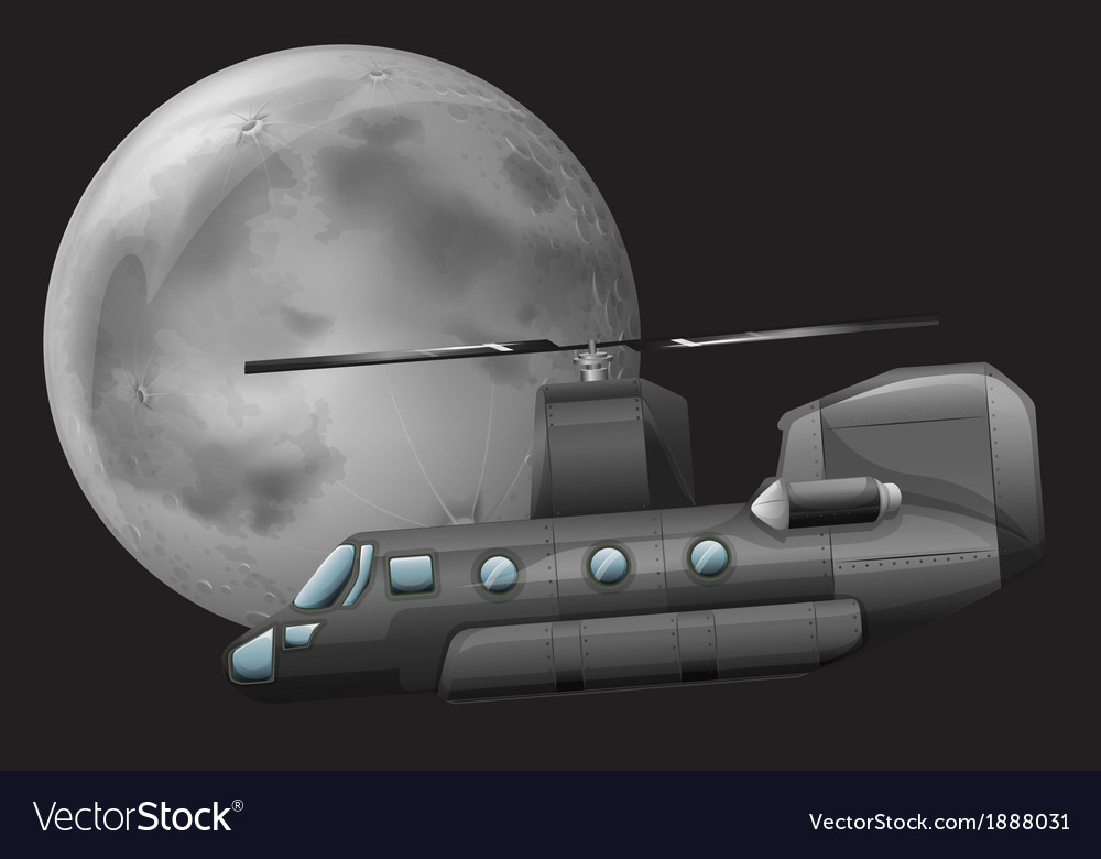 A helicopter in the sky vector | Price: 3 Credit (USD $3)