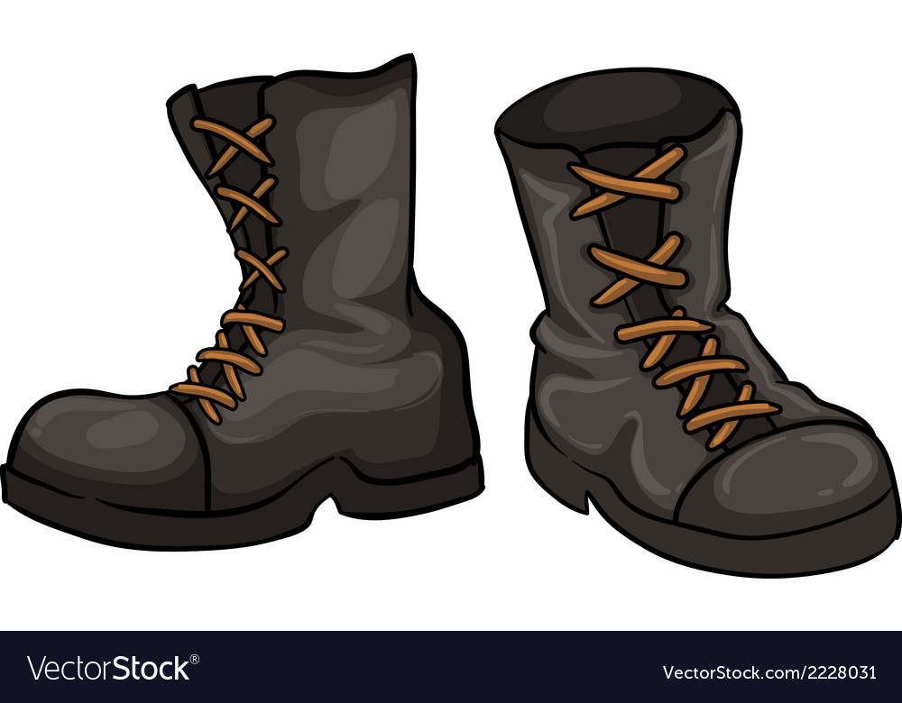 A pair of gray boots vector | Price: 1 Credit (USD $1)