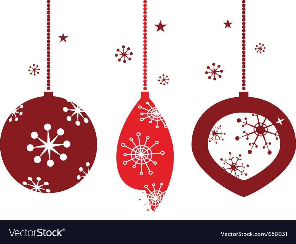 Christmas decoration for retro party vector | Price: 1 Credit (USD $1)