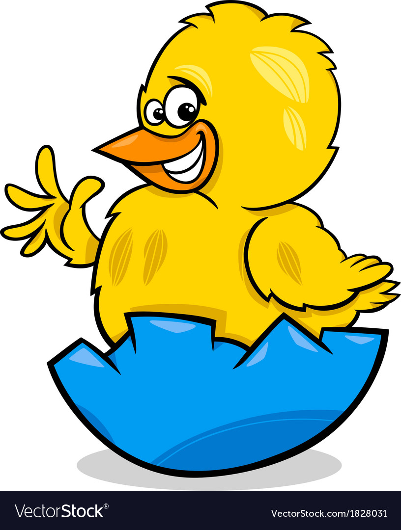 Easter chicken cartoon vector | Price: 1 Credit (USD $1)