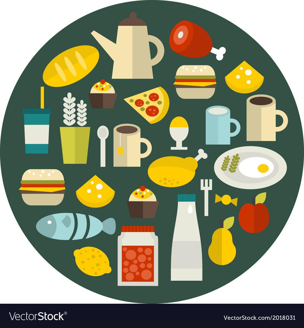 Food round banner vector   Price: 1 Credit (USD $1)