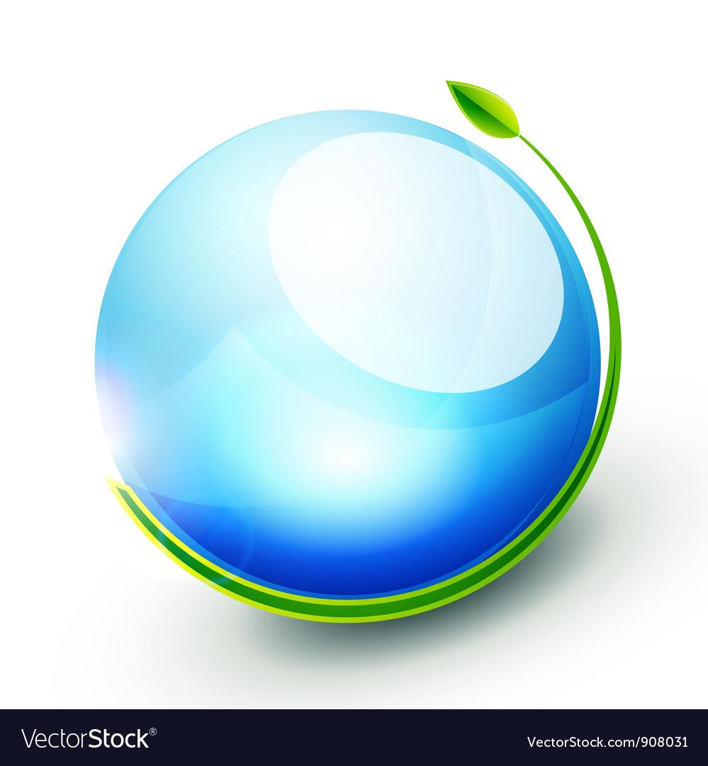 Green sphere concept vector | Price: 1 Credit (USD $1)