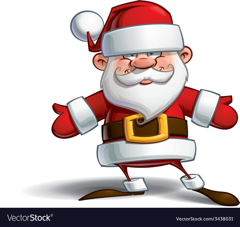 Happy santa open hands vector | Price: 3 Credit (USD $3)