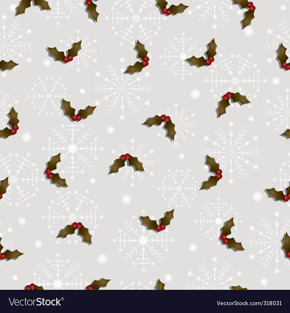 Holly pattern vector | Price: 1 Credit (USD $1)