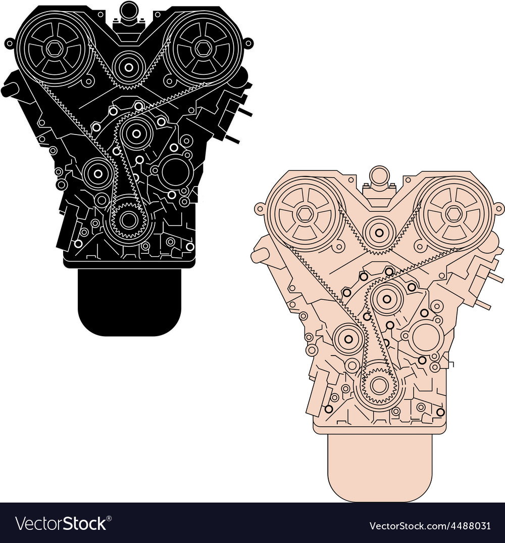 Internal combustion engine as seen from in front vector | Price: 1 Credit (USD $1)