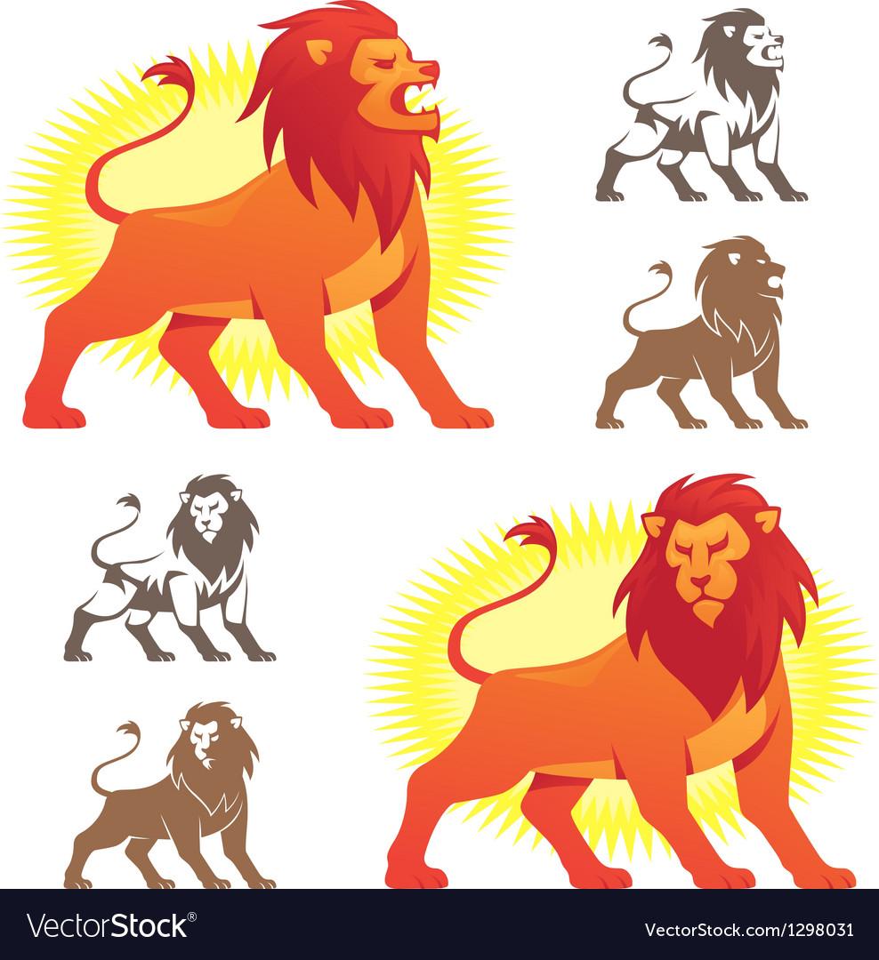 Lion symbols vector | Price: 1 Credit (USD $1)