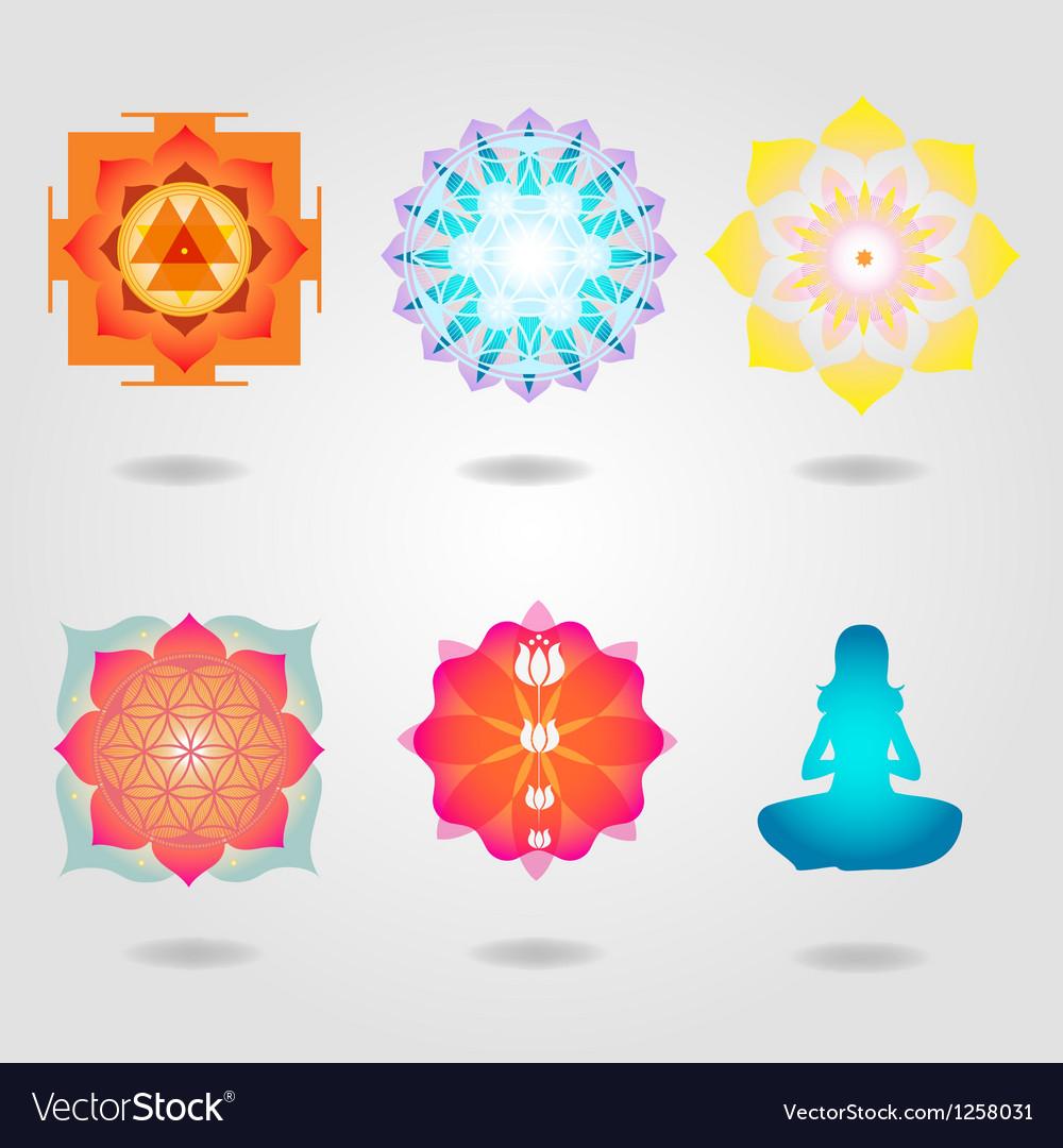 Mini mandalas esoteric set vector | Price: 1 Credit (USD $1)