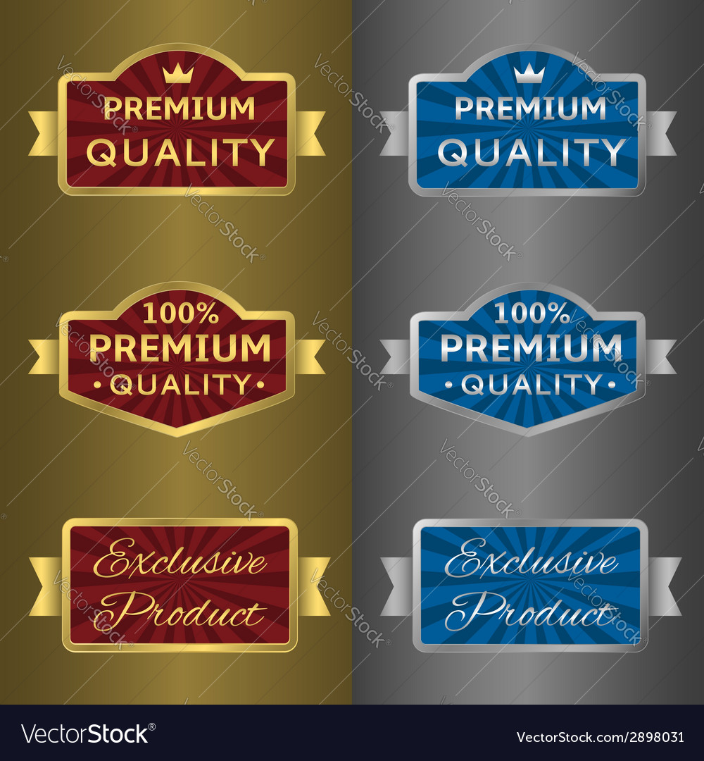 Silver and golden labels vector | Price: 1 Credit (USD $1)